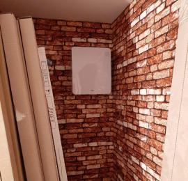 Монтаж ТИОН 3с на стену отделанной декоративным кирпичом