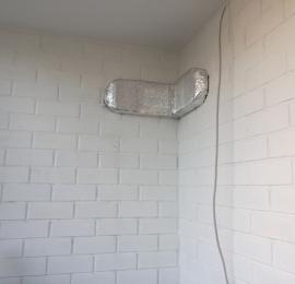 Алмазное бурение двух отверстий и прокладка воздуховода с утеплением для дальнейшего монтажа приточной установки (бризера, вытяжного вентилятора)