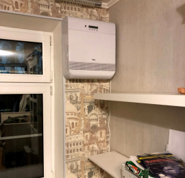 Монтаж ТИОН О2 в панельном доме на уровне окна
