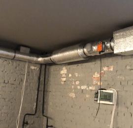 Монтаж приточной вентиляции в подвальном помещении много квартирного дома