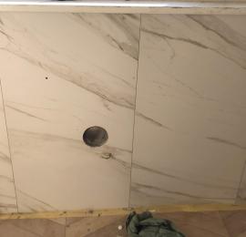 Предмонтажные работы для установки бризера ТИОН 3С на стену отделанную керамогранитной плиткой