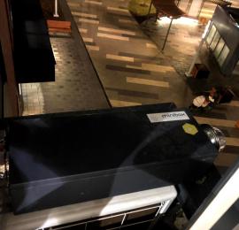 Установка приточной установки в квартире Minibox.E-300-1/3,5kW/G4 Канальная установка с электрическим нагревом на корзину для кондиционера